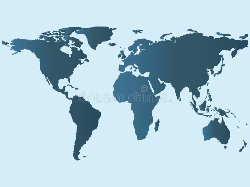 Mappa di mondo, terra della carta da parati royalty illustrazione gratis