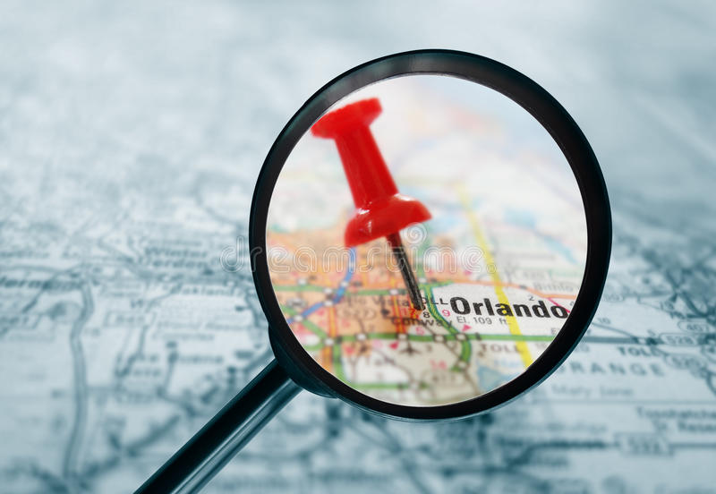 Mappa di Orlando fotografia stock libera da diritti