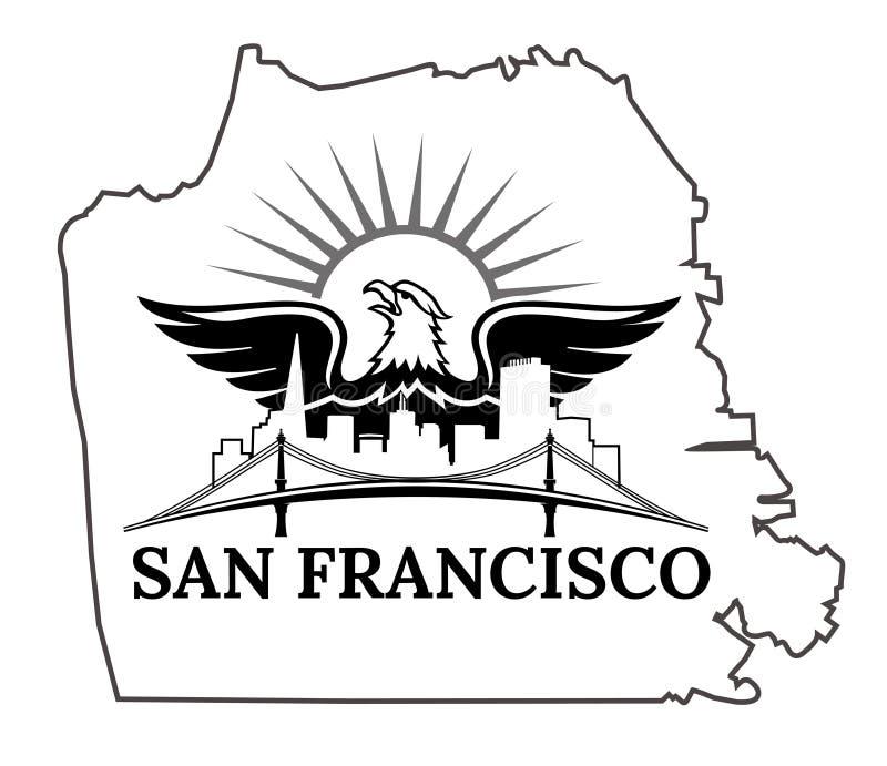 Mappa di San Francisco illustrazione di stock