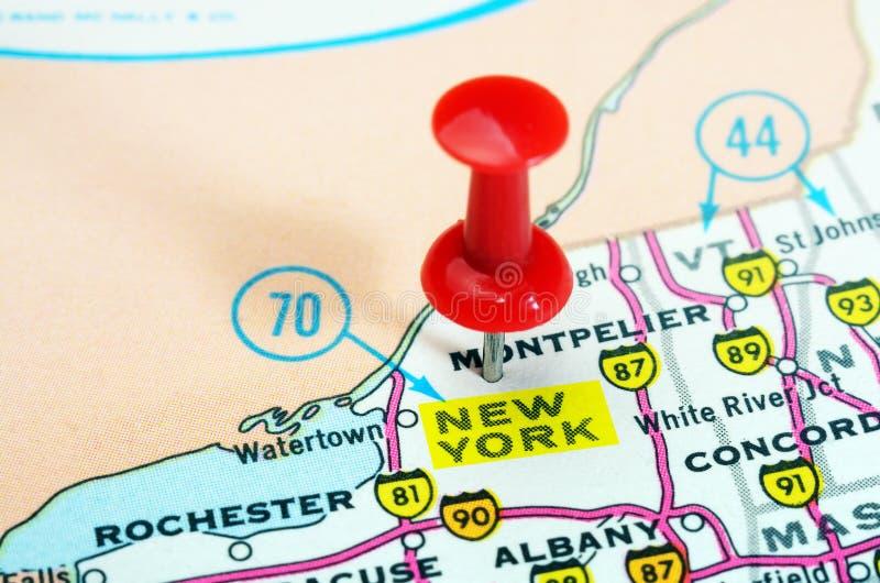 Mappa di U.S.A. dello Stato di New York immagini stock libere da diritti