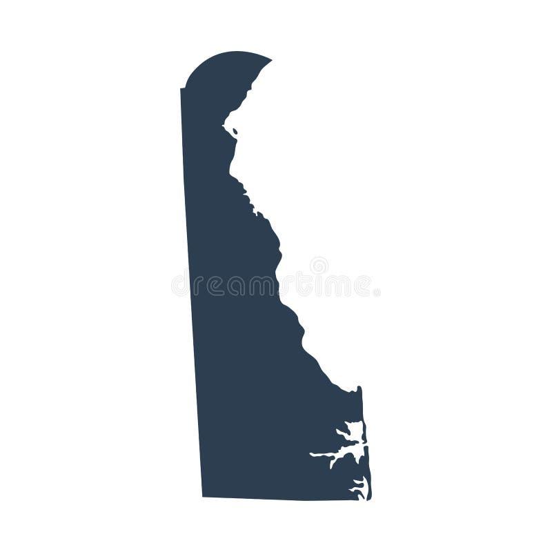 Mappa di U S stato Delaware illustrazione di stock