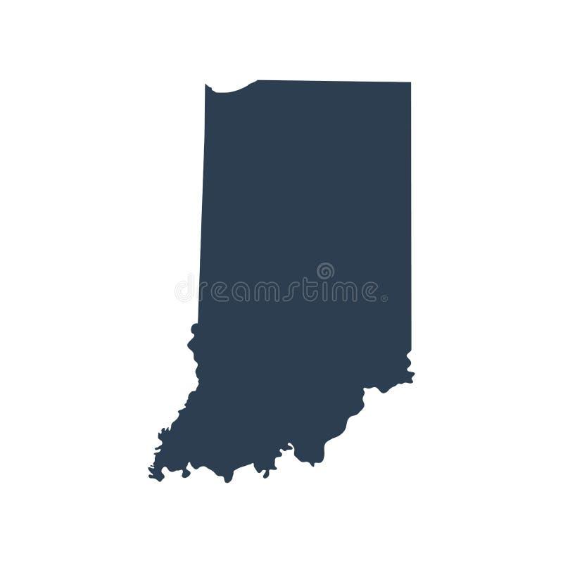 Mappa di U S stato Indiana illustrazione di stock