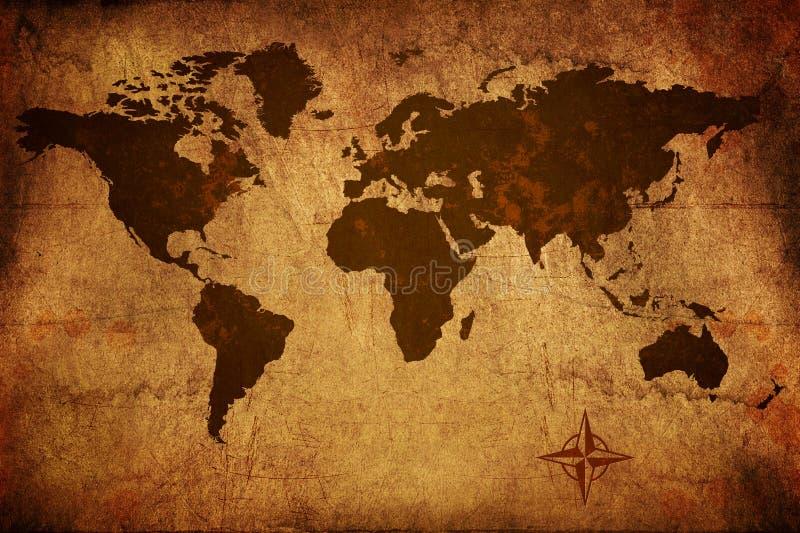 Mappa di vecchio mondo