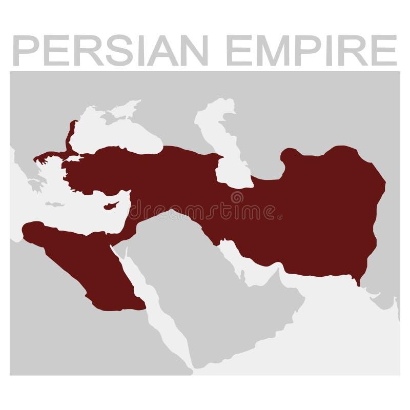 Mappa di vettore dell'impero persiano illustrazione vettoriale