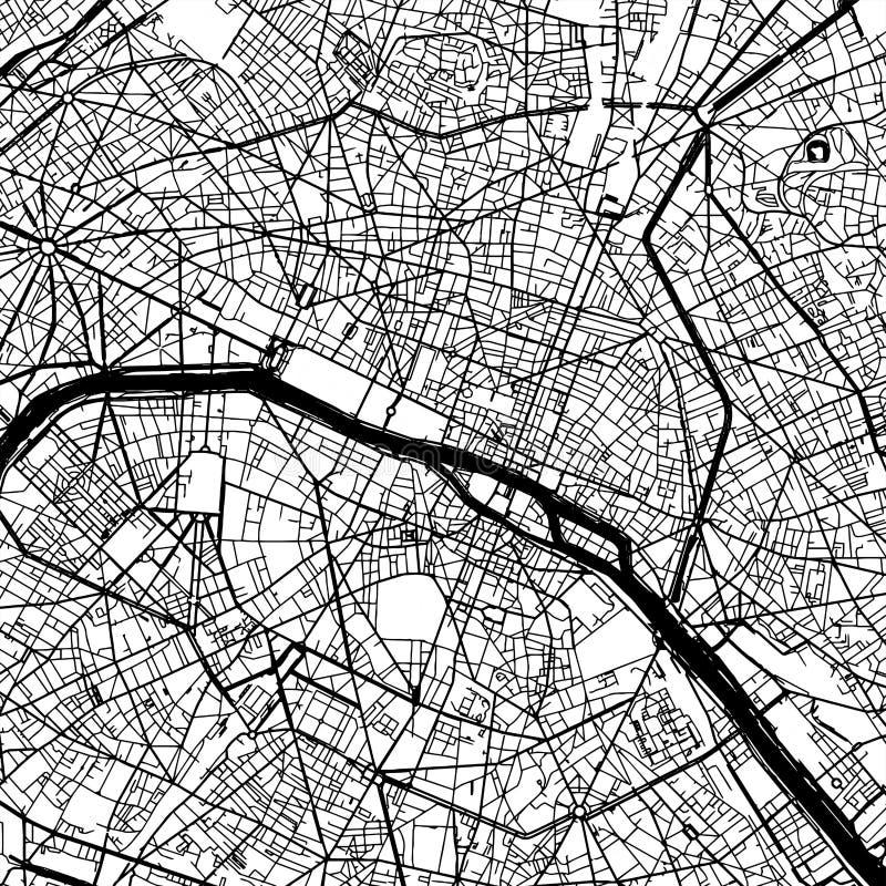 Mappa di vettore di Parigi Francia illustrazione vettoriale