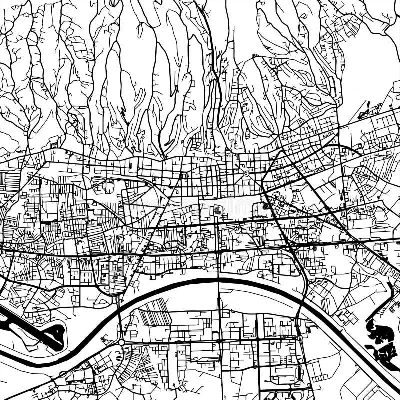 Mappa di vettore di Zagreb Croatia royalty illustrazione gratis