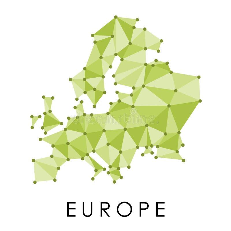 Mappa di vettore di Europa illustrazione vettoriale
