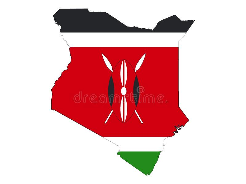 Mappa e bandiera combinate del Kenya