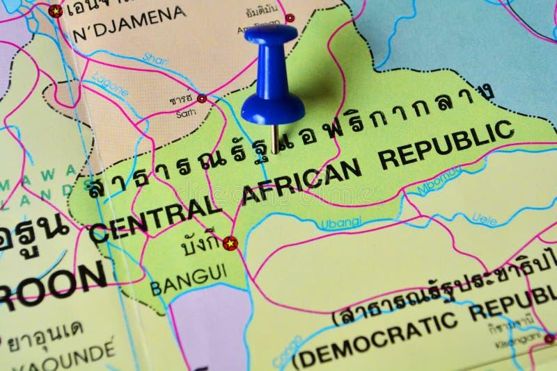 Mappa erpublic centrafricana fotografia stock