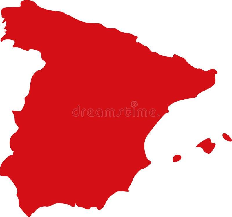 Mappa Europa della Spagna royalty illustrazione gratis