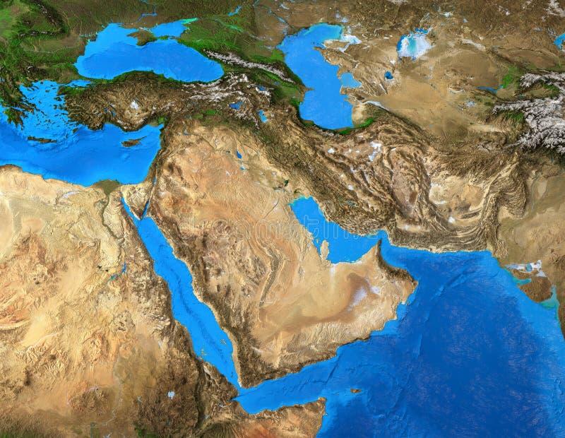 Medio Oriente Cartina Fisica.Mappa Fisica Di Medio Oriente Illustrazione Di Stock Illustrazione Di Programma Fiumi 40027177