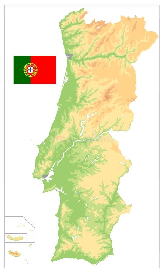 Portogallo Fisica Cartina.Colori D Annata Della Mappa Fisica Del Portogallo Nessun Testo Illustrazione Vettoriale Illustrazione Di Dettagliato Profilo 146123748