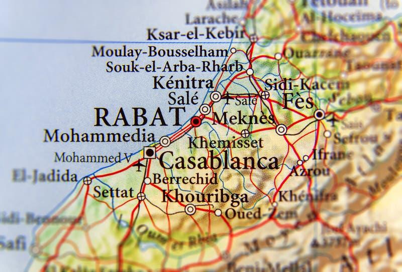 Cartina Politica Del Marocco.Mappa Geografica Del Marocco Con La Capitale Rabat Immagine Stock Immagine Di Turismo Morocco 97678973