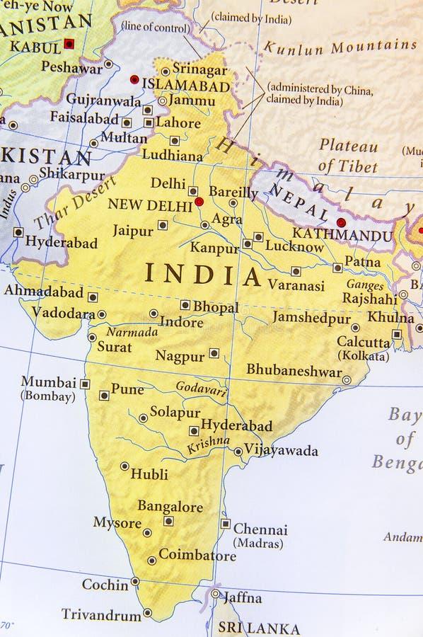 India Del Nord Cartina.Mappa Geografica Dell India Del Nepal Del Bhutan E Del Bangladesh Con Le Citta Importanti Immagine Stock Immagine Di Bhutan Dell 96417285