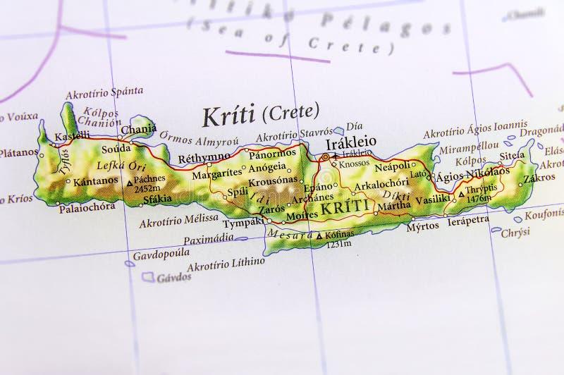 Cartina Geografica Dell Isola Di Creta.Mappa Geografica Dell Isola Di Creta Dell Europeo Fotografia Stock Immagine Di Turismo Europeo 95988514