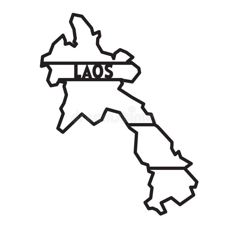 Mappa geometrica astratta del Laos per il taglio del laser immagine stock