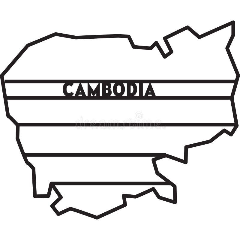 Mappa geometrica astratta della CAMBOGIA per il taglio del laser fotografie stock