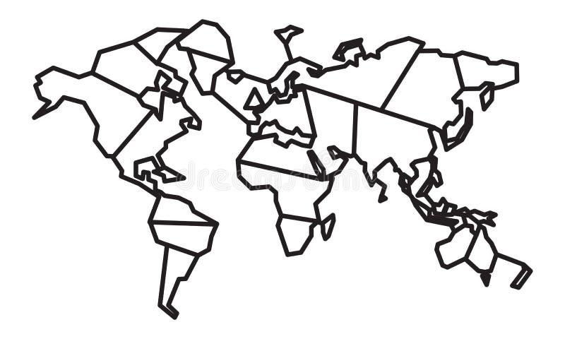 Mappa geometrica astratta di parola per il taglio del laser fotografia stock libera da diritti