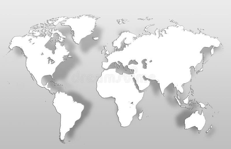 Mappa globale della mappa di mondo fotografia stock libera da diritti
