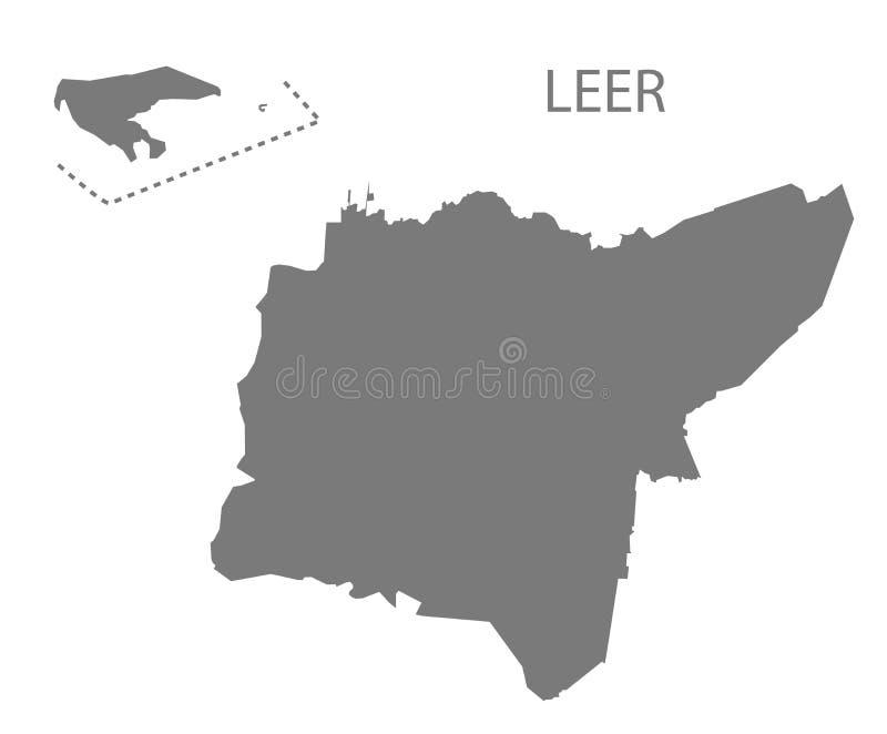 Mappa grigia della contea di forno di ricottura di Bassa Sassonia Germania DE illustrazione di stock