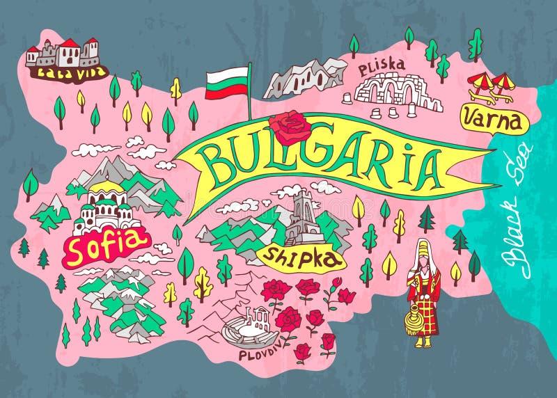 Mappa illustrata royalty illustrazione gratis