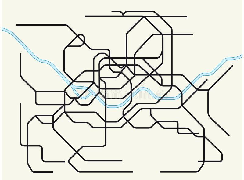 Mappa metropolitana del sottopassaggio di Seoul illustrazione di stock