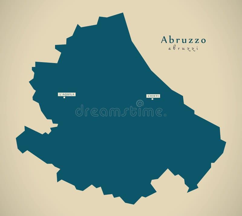 Mappa moderna - Abruzzo l'IT Italia illustrazione vettoriale