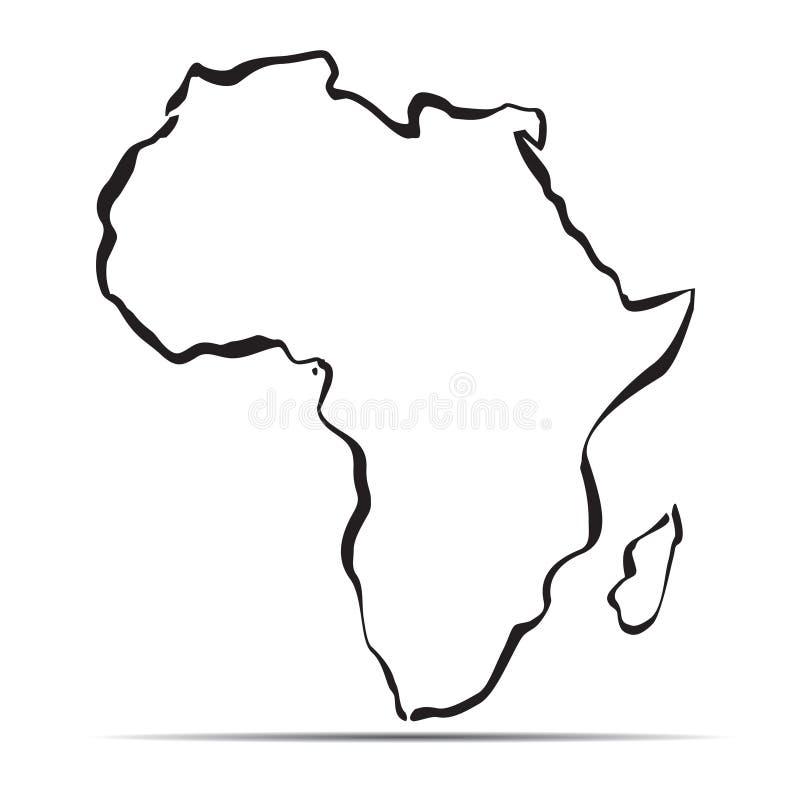 Cartina Dell Africa In Bianco E Nero.Mappa Nera Dell Africa Illustrazione Vettoriale Illustrazione Di Superficie 101366073