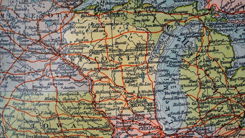 Mappa phisical di U.S.A. illustrazione vettoriale