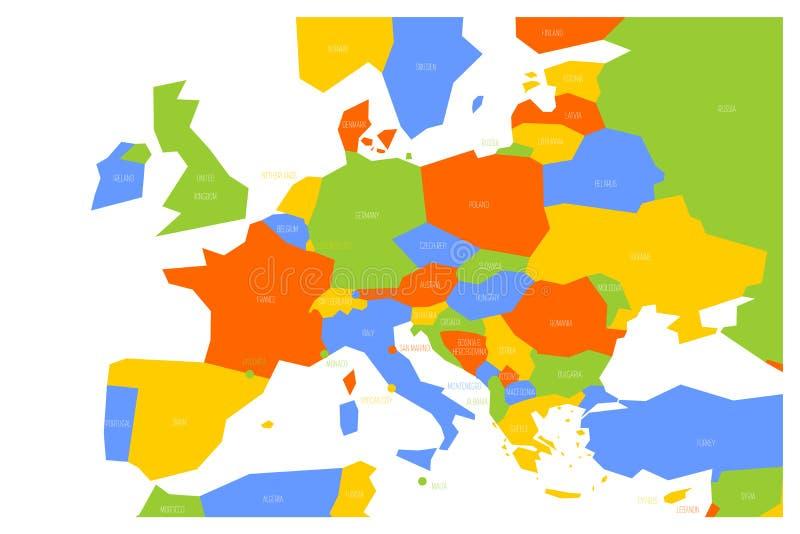 Europa Meridionale Cartina.Mappa Politica Della Centrale E Dell Europa Meridionale Mappa Schematica Di Vettore Di Simlified Nelle Combinazioni Colori Quattr Illustrazione Vettoriale Illustrazione Di Colorato Formazione 121053590