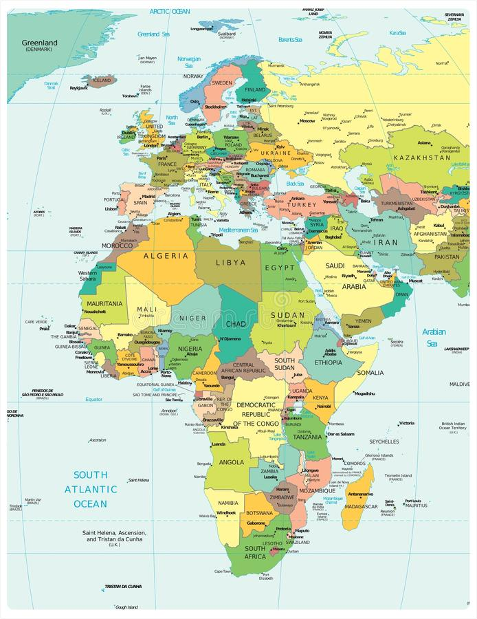 Cartina Politica Bacino Mediterraneo.Mappa Politica Del Bacino Del Mediterraneo Illustrazione Vettoriale Illustrazione Di Nero Isole 82664054