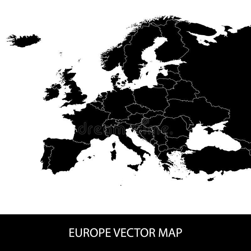 Mappa politica di Europa illustrazione di stock