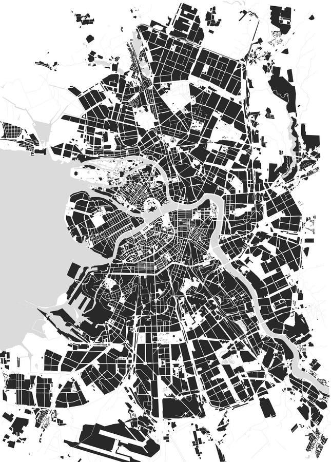 Mappa San Pietroburgo royalty illustrazione gratis