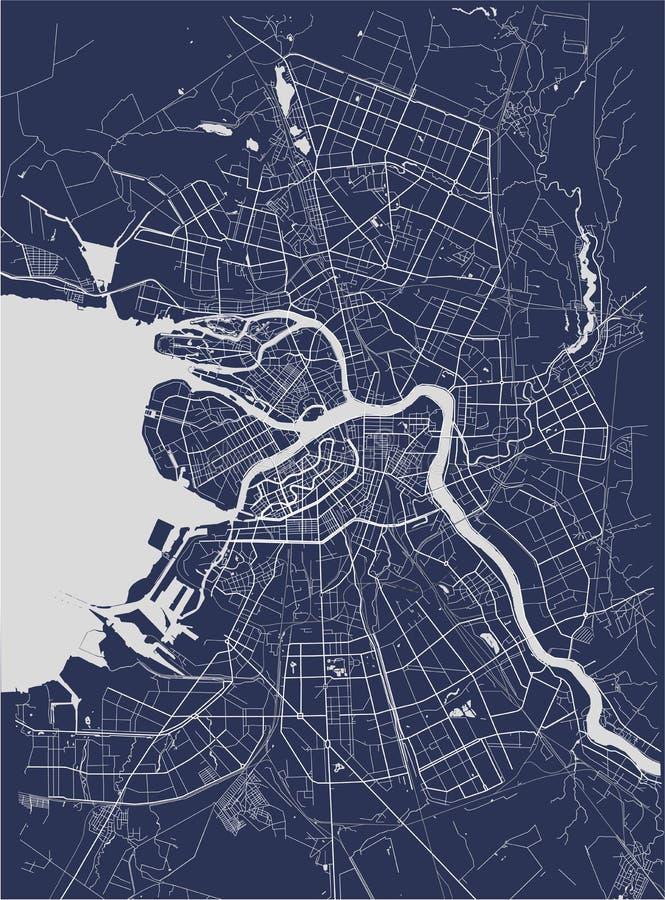 Mappa San Pietroburgo, Russia illustrazione vettoriale