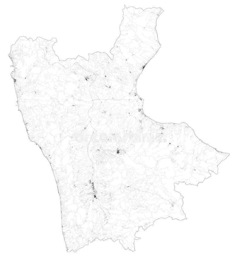 Puglia Cartina Stradale E Visione Satellitare.Mappa Dell Italia Calabria Illustrazione Di Stock Illustrazione Di Programma 35352345