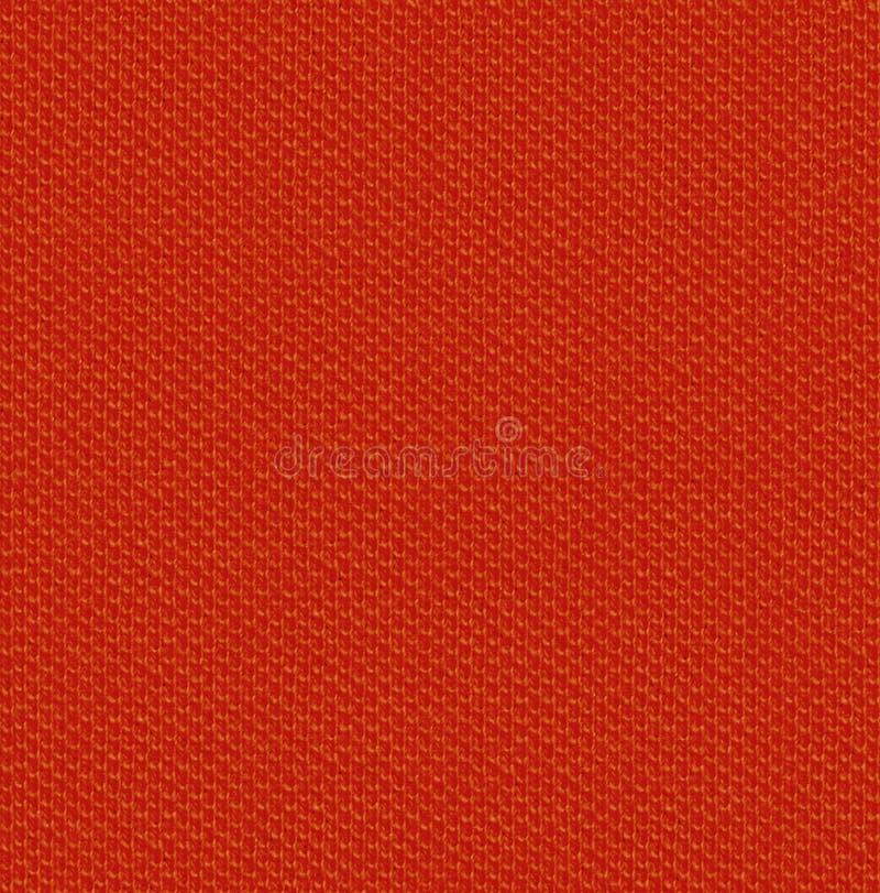 Mappa senza cuciture diffusa di struttura 3 del tessuto Rosso arancio immagini stock