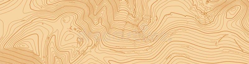 Mappa topografica di vettore astratto nei colori marroni fotografia stock