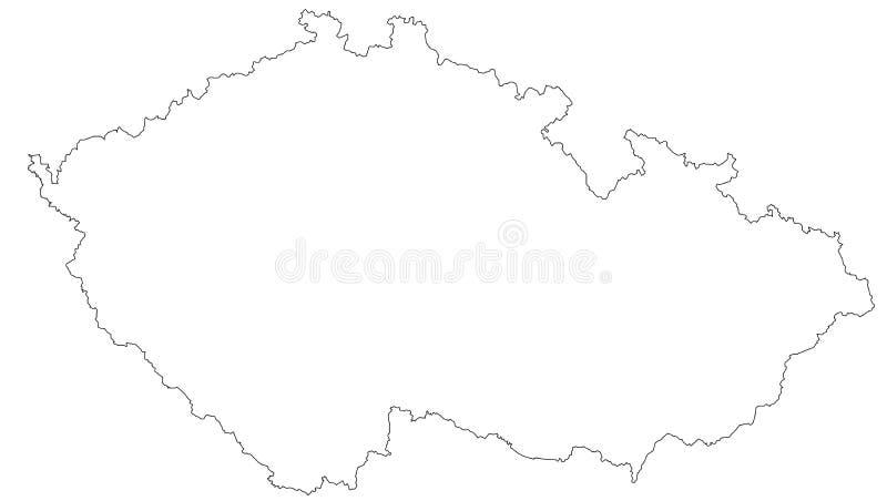 Mappa vuota della repubblica Ceca illustrazione vettoriale