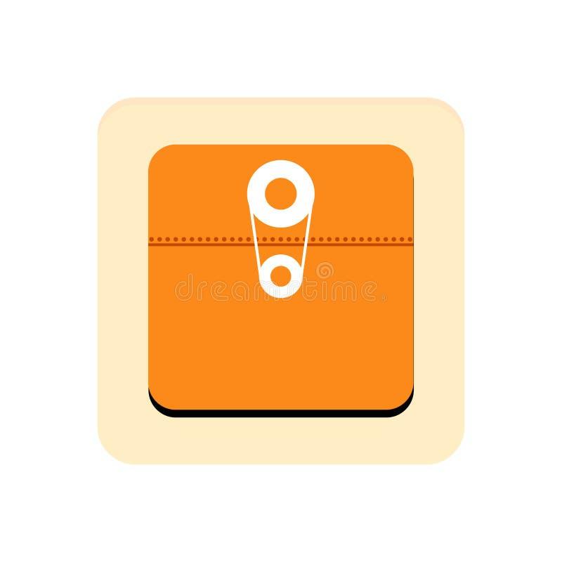 Mappapp-knapp vektor illustrationer
