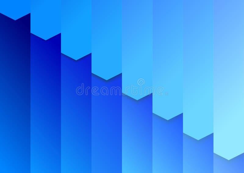 Mappbakgrundsmall i blått royaltyfri illustrationer
