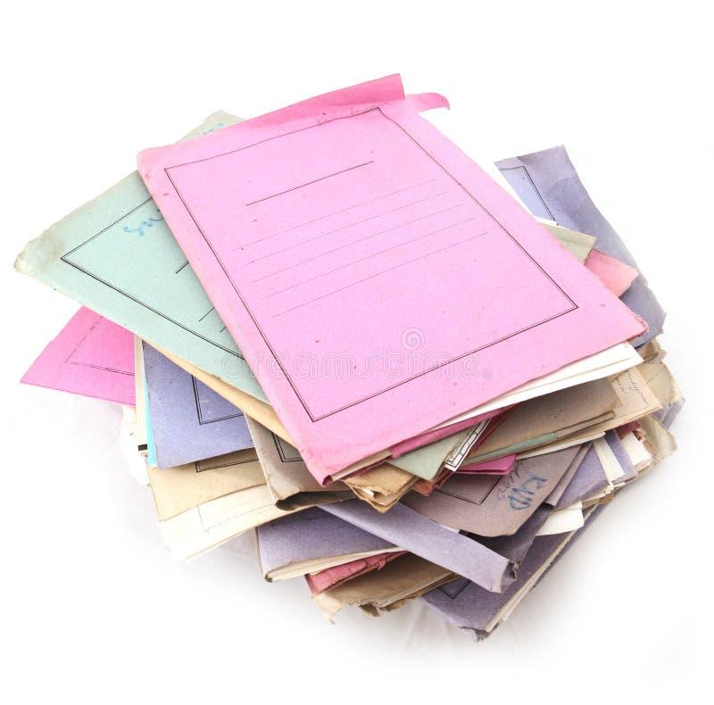 mappbunt arkivbild