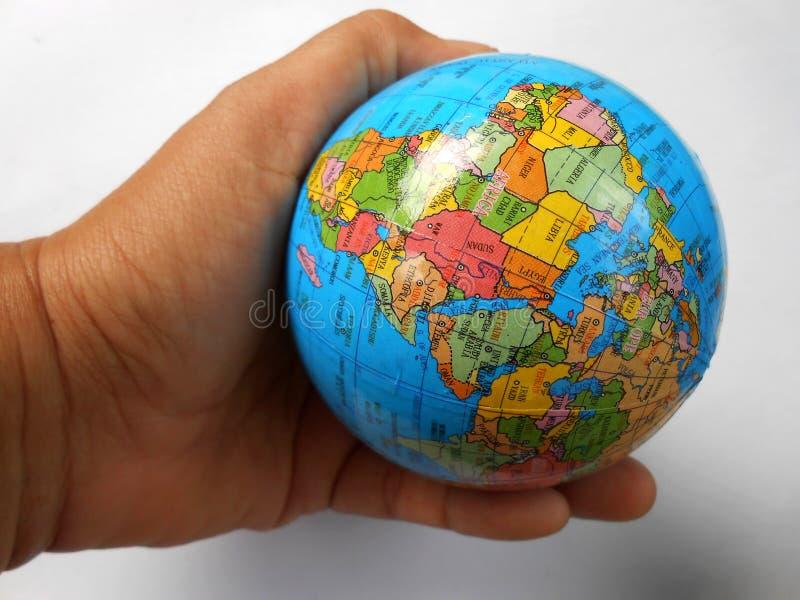 Mappe blu del globo fotografia stock libera da diritti