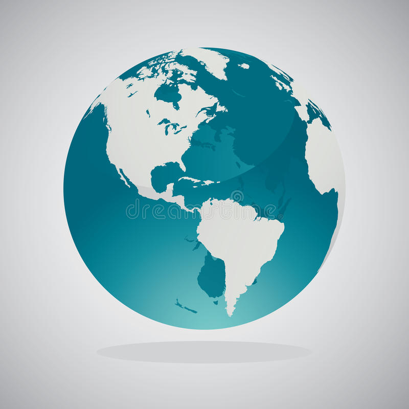 Mappe del globo del mondo - progettazione di vettore illustrazione vettoriale