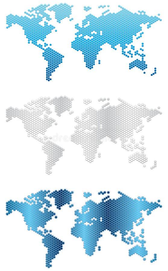 Mappe di mondo 2-Illustration-maps illustrazione di stock