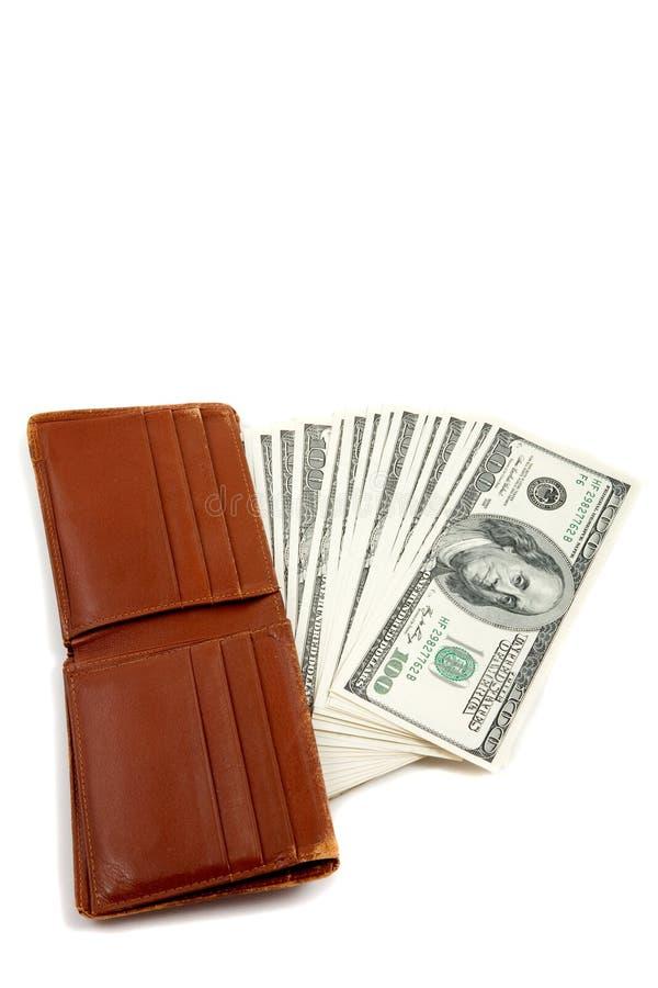 Mappe voll Geld lizenzfreies stockfoto