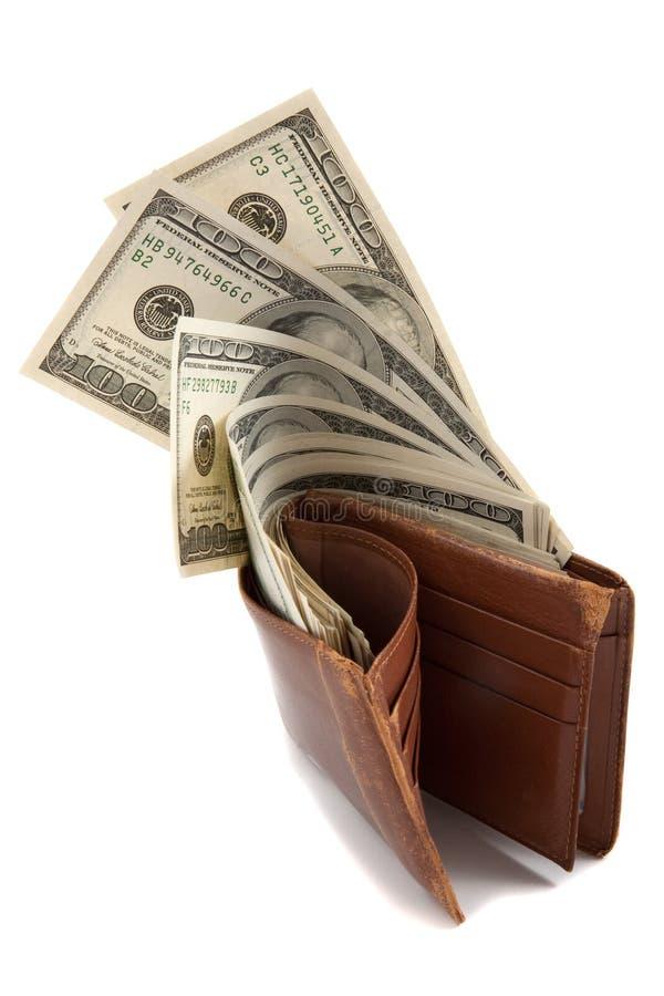 Mappe voll Geld stockfotos
