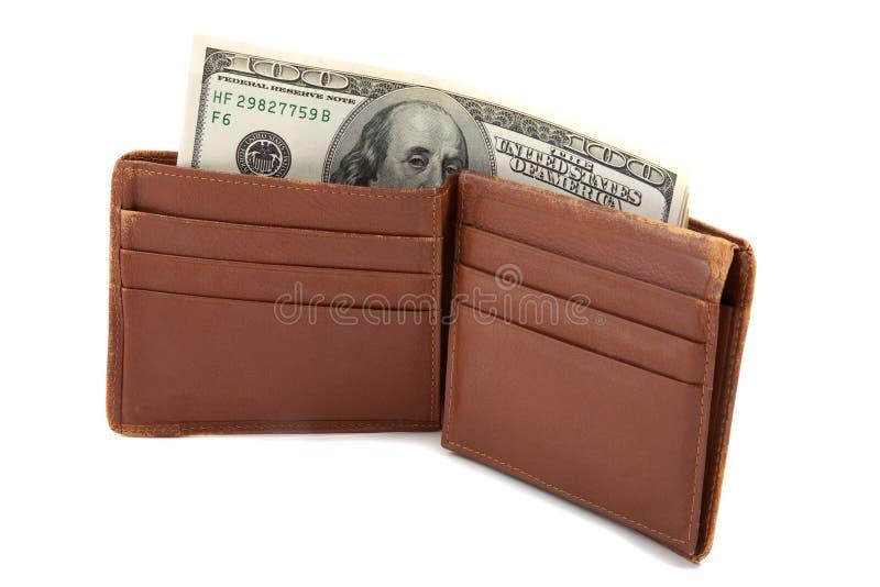 Mappe voll Geld stockfoto