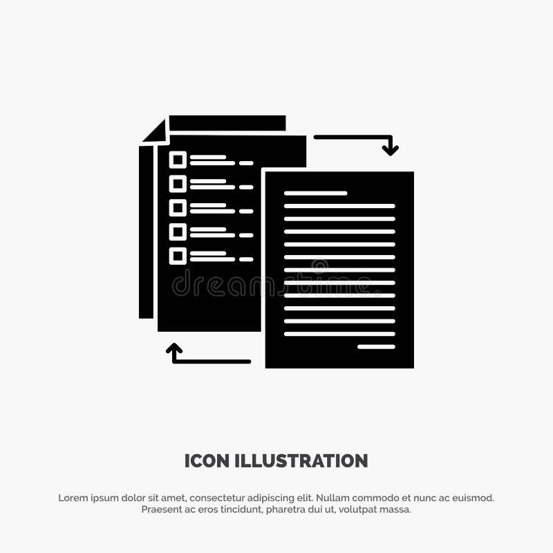 Mappen aktien, överföringen, Wlan, delar det den fasta skårasymbolsvektorn stock illustrationer