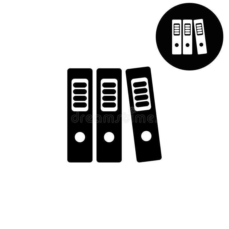 Mappen - weiße Vektorikone lizenzfreie abbildung