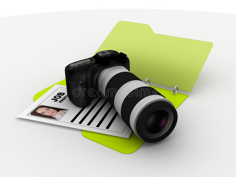 mappfotografresume vektor illustrationer